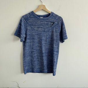 Gymshark - Blue / Purple, Short Sleeve Workout Top